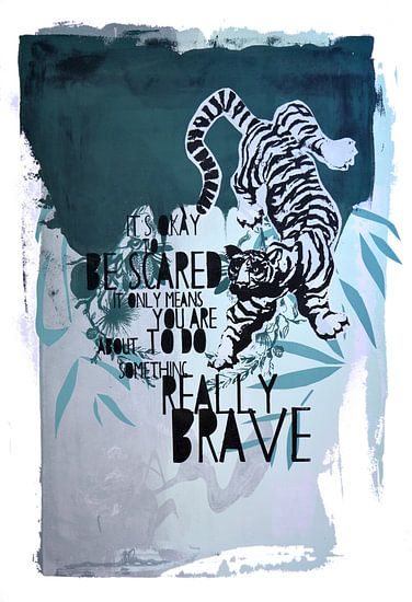 Brave jungle tiger