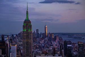 New York   in der Abenddämmerung van