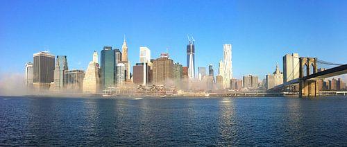 New York skyline Panorama mist