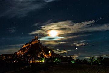 Staatzerberg bij volle maan van Elke Wolfbeisser