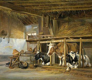 Kühe im Stall - Jan van Ravenswaay von