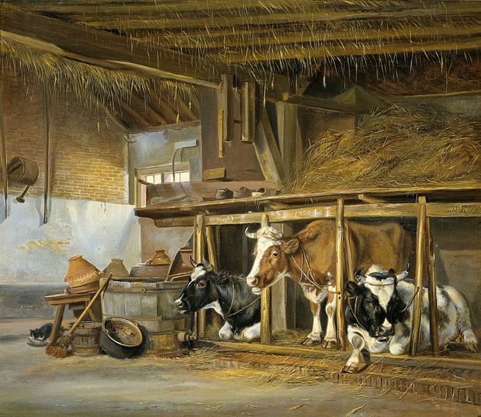 Koeien op stal, Jan van Ravenswaay van Meesterlijcke Meesters