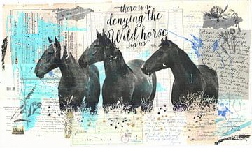 Graceful Wild Horses van click4 collage