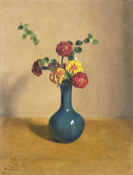 Afrikaner in einer blauen Vase, Willem Witsen von Meesterlijcke Meesters