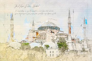 Hagia Sophia, Istanbul von Theodor Decker