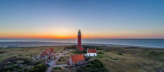 Vuurtoren Eierland Texel zonsondergang