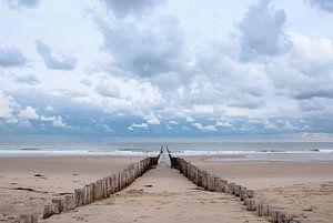 Poteaux de plage à Domburg sur Jacqueline Lodder