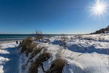 Winter: Duinen, sneeuw op het strand in Juliusruh op het eiland Rügen van GH Foto & Artdesign
