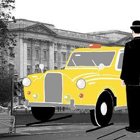 Taxi in Londen van Lida Bruinen