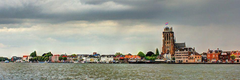 Zicht op de Grote Kerk van Dordrecht