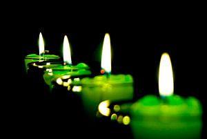 burn vier kaarsen