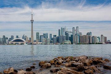 Skyline van Toronto met rotsen von Stephan Neven