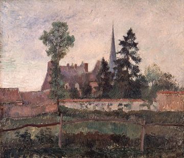 L'église et la ferme d'Eragny, Camille Pissarro sur