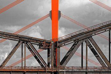 Ponts du Rhin à Duisburg (7-27493) sur Franz Walter