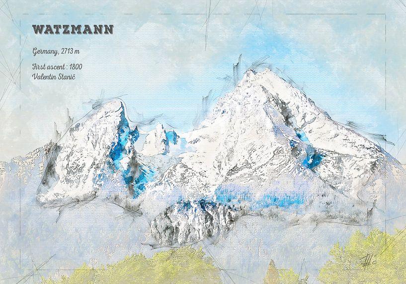 Watzmann, Bayern, Deutschland von Theodor Decker