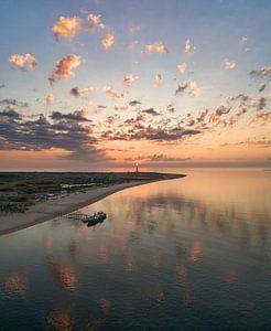 De nieuwe Vriendschap uitzicht Vuurtoren Eierland Texel prachtige zonsondergang
