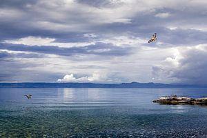 Wolken über dem Genfer See von Maarten Visser