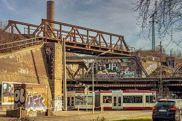 Treinovergang Dortmund met tram van Johnny Flash