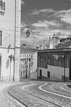 Lissabon tramrails sur
