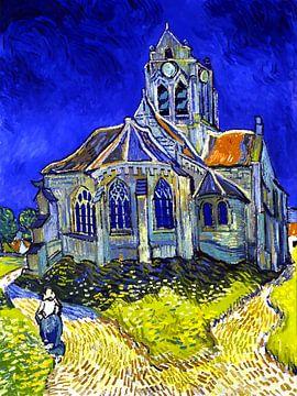De kerk van Auvers - Vincent van Gogh - 1890