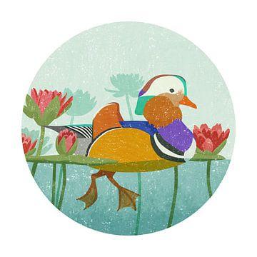 Mandarin Duck sur Goed Blauw