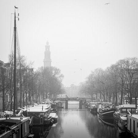 Prinsengracht - Westertoren van Hugo Lingeman