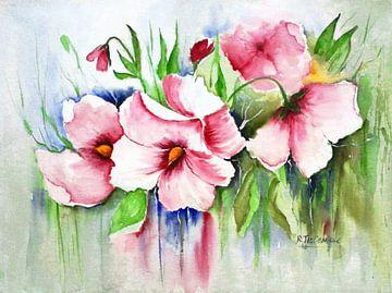 Scène florale sur Rita Tielemans