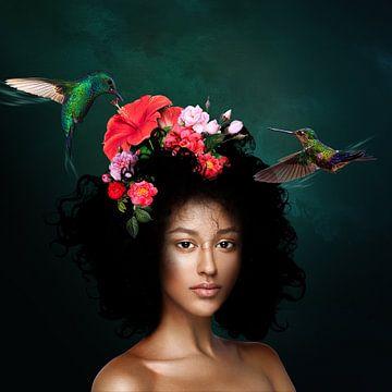 Die Frau mit den Vögeln von OEVER.ART
