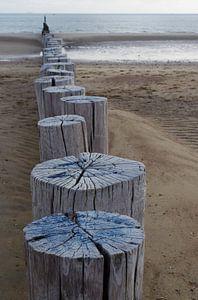 Strandpalen 3 van Romuald van Velde