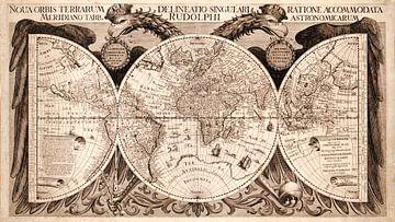 Wereldkaart uit 1630 van Nic Limper