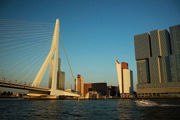 Rotterdam bij zonsondergang van Adriana Zoon