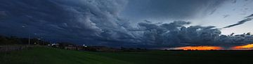 Thunderstorm sunset