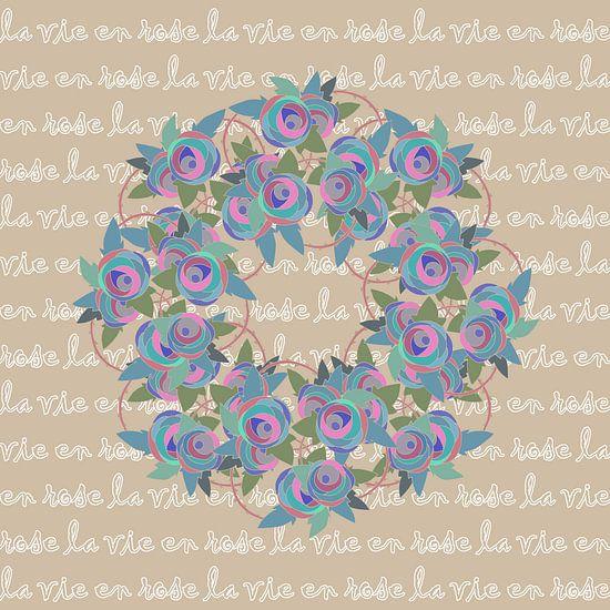 Les Roses - la vie en rose sur MY ARTIE WALL