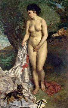 Badende Frau - Lise am Ufer der Seine, Akt, Pierre-Auguste Renoir - 1870 von Atelier Liesjes