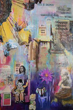 """schwebende Collage von Janny Schilderink......Atelier """"de Tuute """""""