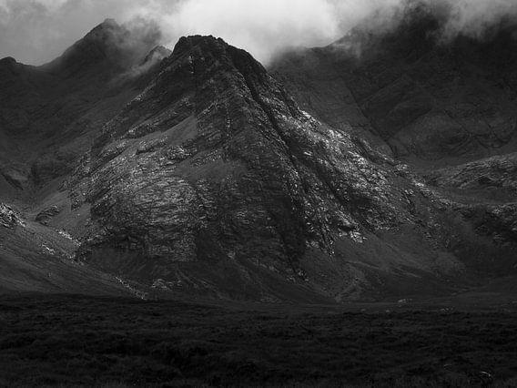 Black Cuillin Mountains, Isle of Skye, from Glen Etive