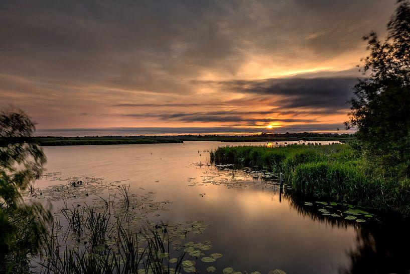 Zonsondergang in de Onlanden van Jacques Jullens
