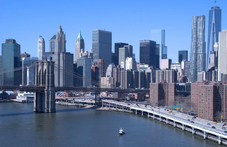 skyline New York in kleur van Sigrid Klop