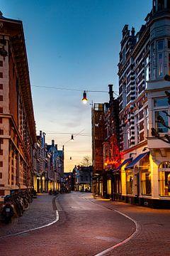 Zijlsttraat in binnenstad Haarlem - kleur