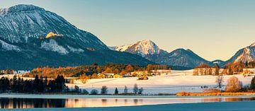 Panorama Hopfen am See, Allgäu, Bayern, Deutschland