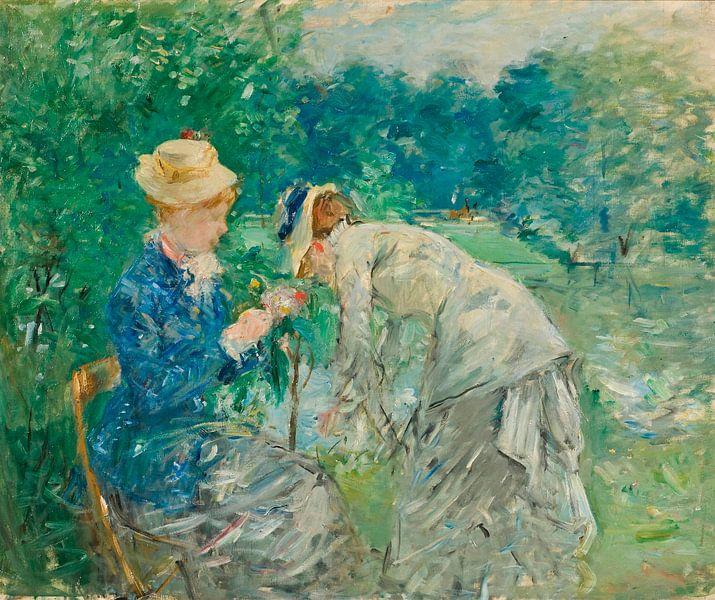 Im Bois de Boulogne, Berthe Morisot von Meesterlijcke Meesters