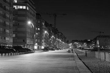 Boulevard Knokke-Heist bei Nacht von Noud de Greef