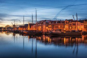 Leiden canalhouses blue hour sur
