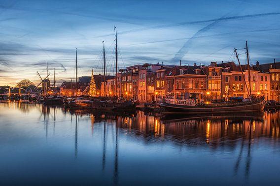 Galgenwater Leiden - Blauwe uur van Dick van Duijn