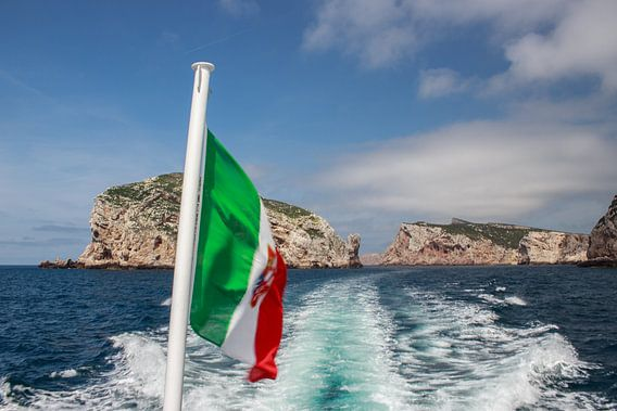 Italiaanse vlag van André Hamerpagt