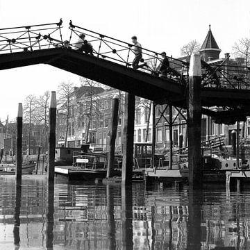 Lange IJzeren Brug in Dordrecht sur Dordrecht van Vroeger