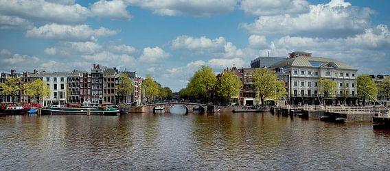 Panorama op de Amstel