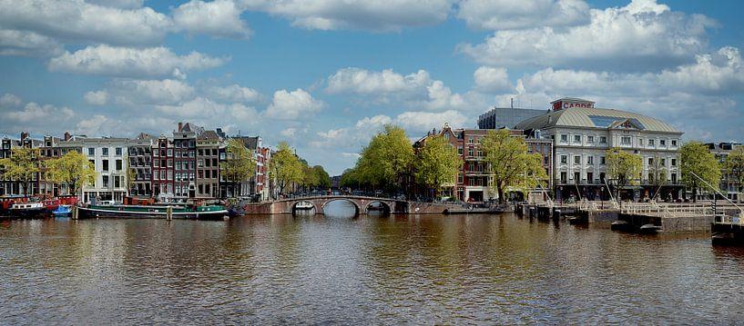Panorama op de Amstel van Peter Bartelings Photography