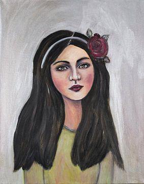 Mädchen mit Haarreifen von Veronika Fraile Art