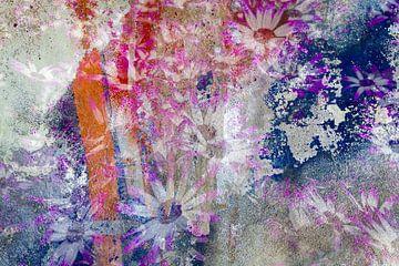bloemen op muur van Eugene Winthagen